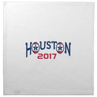 American Football Houston 2017 Word Retro Napkin