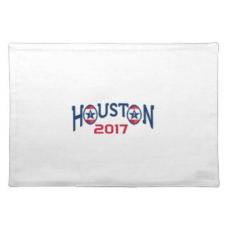 American Football Houston 2017 Word Retro Place Mat