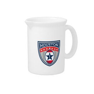 American Football Houston Stars Stripes Crest Retr Drink Pitcher