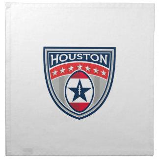 American Football Houston Stars Stripes Crest Retr Napkin