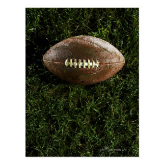 American football on grass, view from above postcard