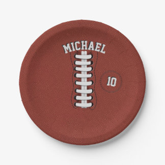 American Football Party Paper Plates 7 Inch Paper Plate