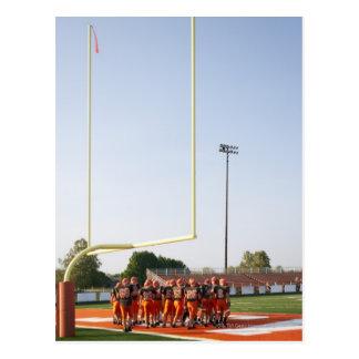 American football players, including teenagers postcard