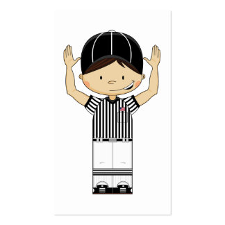American Football Referee Bookmark Business Card