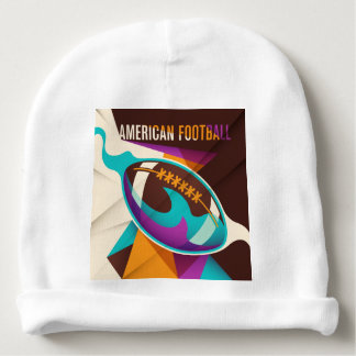 American Football Sport Ball Abstract Baby Beanie