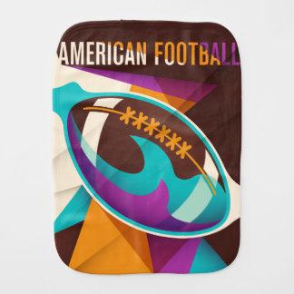 American Football Sport Ball Abstract Baby Burp Cloth