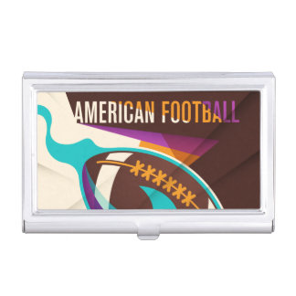 American Football Sport Ball Abstract Business Card Holder