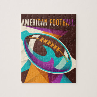 American Football Sport Ball Abstract Jigsaw Puzzle