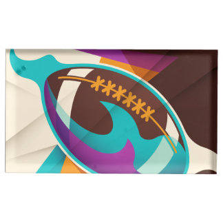 American Football Sport Ball Abstract Table Card Holders