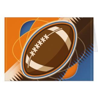 American Football Sport Ball Game Card
