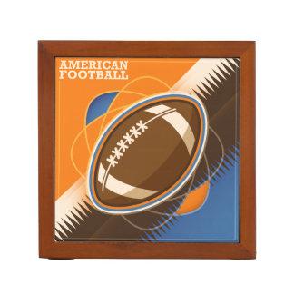 American Football Sport Ball Game Desk Organizer