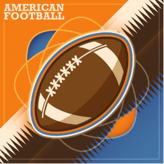 American Football Sport Ball Game Photo Sculpture Button
