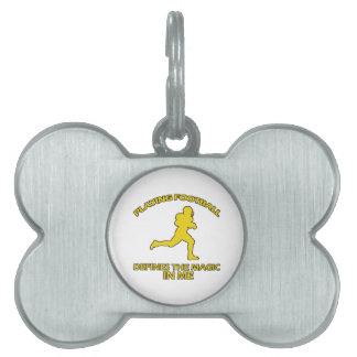 american football  sports designs pet tag