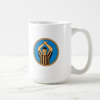 American Football Umpire Hand Signal Circle Mono L Coffee Mug