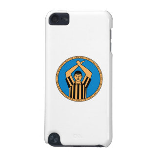 American Football Umpire Hand Signal Circle Mono L iPod Touch (5th Generation) Cover