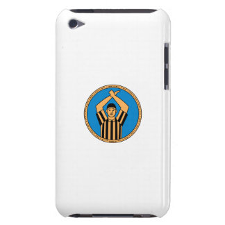 American Football Umpire Hand Signal Circle Mono L iPod Touch Cases