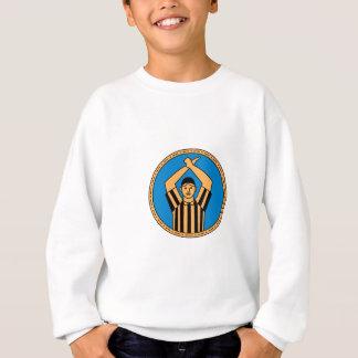 American Football Umpire Hand Signal Circle Mono L Sweatshirt
