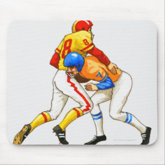 American footballer blocking an opponent mouse pad