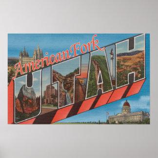 American Fork, Utah - Large Letter Scenes Poster