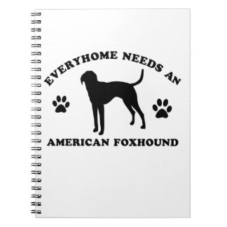 American Fox Hound dog breed Spiral Note Books