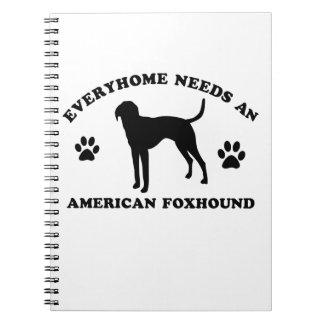 American Fox Hound dog breed Spiral Note Books
