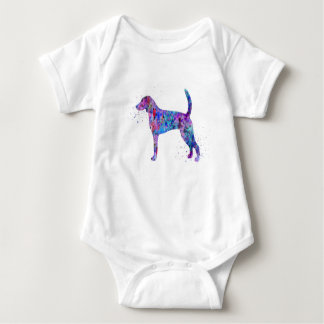 American foxhound, American foxhound watercolor Baby Bodysuit