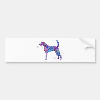 American foxhound, American foxhound watercolor Bumper Sticker