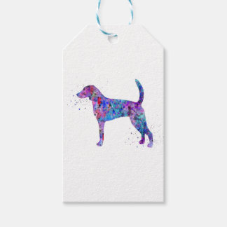American foxhound, American foxhound watercolor Gift Tags