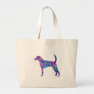 American foxhound, American foxhound watercolor Large Tote Bag