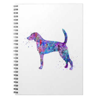 American foxhound, American foxhound watercolor Notebook