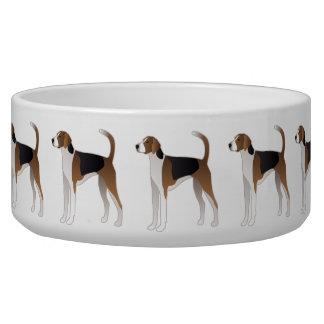 American Foxhound Basic Dog Breed Illustration