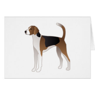 American Foxhound Basic Dog Breed Illustration Card