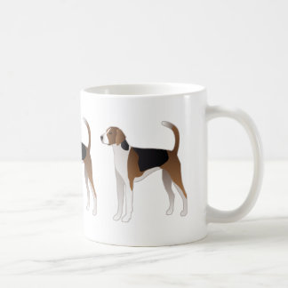 American Foxhound Basic Dog Breed Illustration Coffee Mug