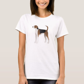 American Foxhound Basic Dog Breed Illustration T-Shirt