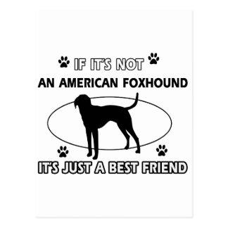 AMERICAN FOXHOUND best friend designs Postcard
