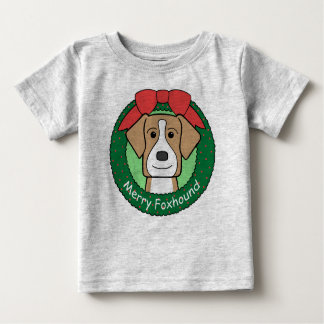 American Foxhound Christmas Baby T-Shirt