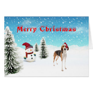 American Foxhound Christmas Card