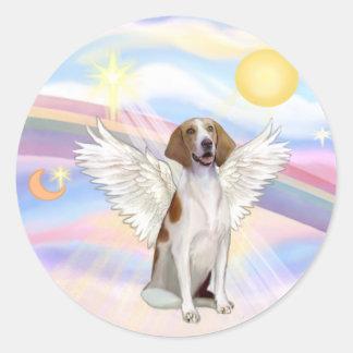 American Foxhound Classic Round Sticker