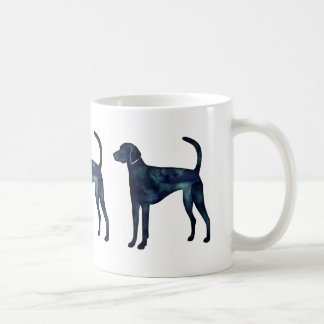 American Foxhound Dog Black Watercolor Silhouette Coffee Mug