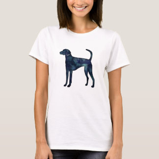 American Foxhound Dog Black Watercolor Silhouette T-Shirt
