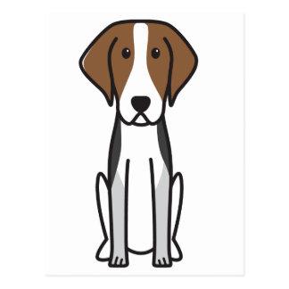 American Foxhound Dog Cartoon Postcard