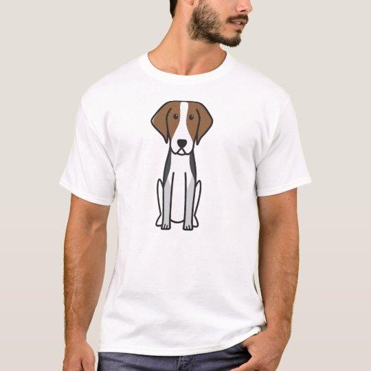 American Foxhound Dog Cartoon T-Shirt