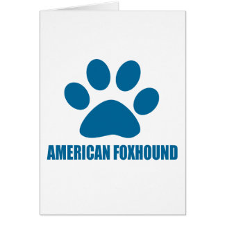 AMERICAN FOXHOUND DOG DESIGNS CARD