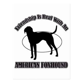 AMERICAN FOXHOUND DOG DESIGNS POSTCARD