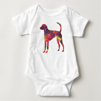 American Foxhound Geo Pattern Silhouette - Multi Baby Bodysuit