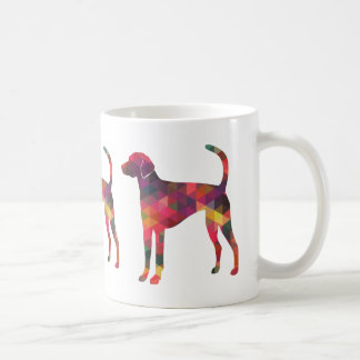 American Foxhound Geo Pattern Silhouette - Multi Coffee Mug