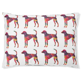 American Foxhound Geo Pattern Silhouette - Multi Pet Bed