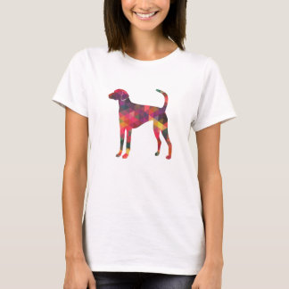 American Foxhound Geo Pattern Silhouette - Multi T-Shirt