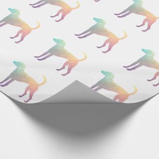 American Foxhound Geo Pattern Silhouette Pastel