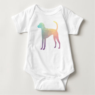 American Foxhound Geo Pattern Silhouette Pastel Baby Bodysuit